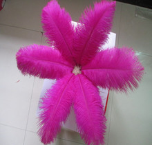 Wholesale! 10 PCS/a lot of beautiful rose ostrich feathers 20-25 cm / 8-10 inches wedding celebration decoration(China)