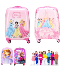 18 inch Cheap Travel Suitcases Rolling Luggage gilrs children luggage travel Suitcase Cartoon trolley Trunk Kids Carry On Bag
