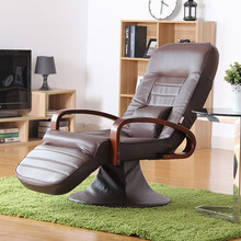 Computer Chair Leather Brown 360 Degree Swivel Modern Home Office Furniture Reclining Comfortable Executive Chair Design