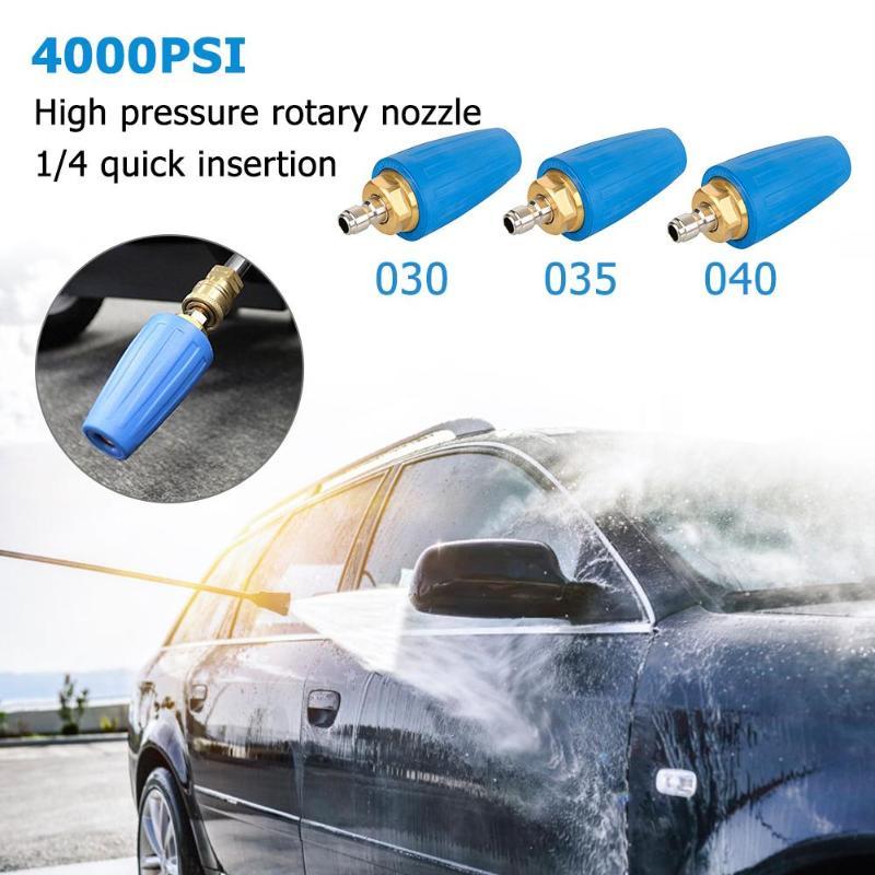 "1//4/"" Quick Connect Rotating Wash Brush Pressure Washer Car Vehicle Washing Tool"