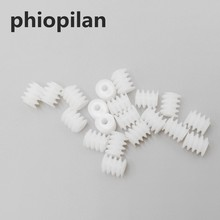 phiopilan 0.5m 6*7mm w6*7 2a Aperture 1.95mm Small helical gear plastic worm and plastic worm gear for motor(China)