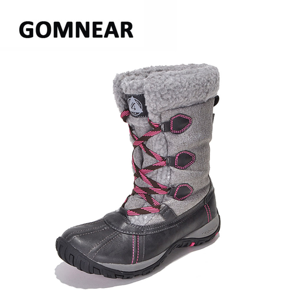 GOMNEAR New Winter Womens Outdoor Trekking Hiking Shoes Waterproof Warm Snow Boots Antiskid Trend Leisure Tourism Sports Shoes<br><br>Aliexpress