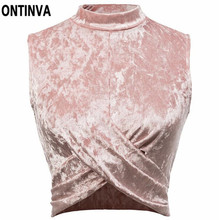 2017 Summer Autumn Velour T Shirt Woman Sexy Off Shoulder Crop Top Bodycon Tops Femme Sexy Short Style Pink Black Fashion Shirts