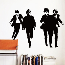 Art Design Cheap home decoration Vinyl famous Beatles Wall Sticker removable British music star decal room decor  in bedroom
