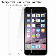 Soultz Tempered Glass Film for iPhone 5 5s 7 Plus 9H Hard 2.5D Screen Protector for iPhone 6 6s 6 Plus SE 4 8 with Clean Tools(China)