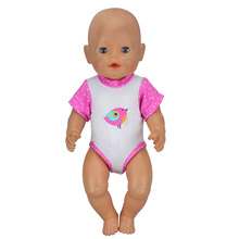 1pcs Fashion Dress Wear For 43cm Zapf Doll 17 Inch Reborn Babies Clothes(China)