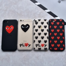Fashion Japan Red Heart Play Case For iPhone 7 6 6s Plus Phone Case Cover For iPhone 6 6s 5s SE soft silicon Matte Coque Fundas