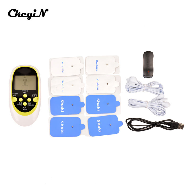110-250V Dual-output Electronic Slimming Body Massager With 8 Electrode Pads Muscle Stimulator Pain Relief  AM023-48W<br><br>Aliexpress