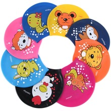2017 Kids swim cap surf hat Protect Ears Swim Pool Shower cap Children 12 Chinese zodiac and animal Swim Cap For Boys And Girls