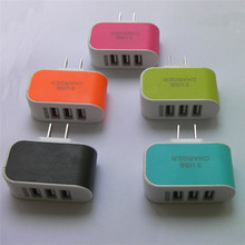 5 Colors Useful Fast 3-Ports USB Triple Port Charger Adapter AC Power Fit Samsung Galaxy 3.1A 3.1A US Plug(China)