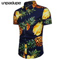 2018 Short Sleeve Mens Hawaiian Shirt Male Casual Camisa Masculina Flower Print Beach Summer Shirts Brand Clothing Men Plue Size 7