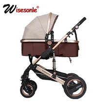 wisesonle baby stroller 2 in 1 stroller lie or damping folding light weight Two-way baby four seasons Russia free shipping(China)