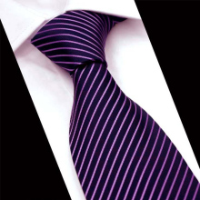 Mantieqingway Formal Purple Ties for Men's Suits Business Wide Polyester Stripe Neck Tie Groom Wedding Gravatas Slim Casual Ties