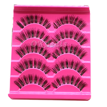5 Pairs Handmade Natural Long Fake Eye Lashes Thick Fake False Eyelashes Makeup Tools(China)