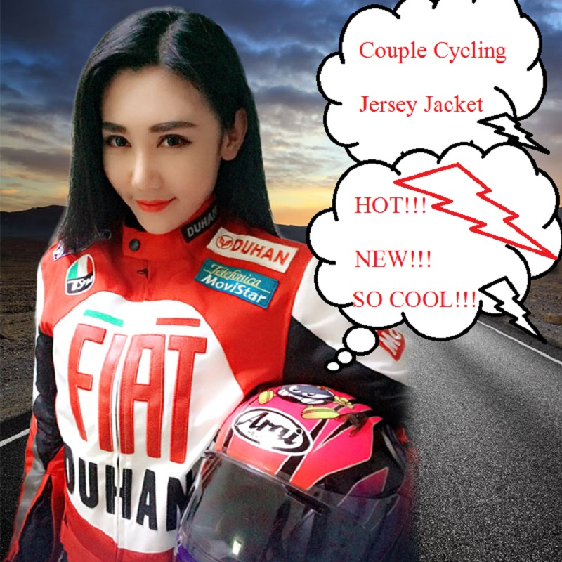 DUHAN cross-country motorcycle jacket Couple racing suits for Loves Professional Men's Women's Reflective Safety Protective Gear(China)