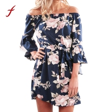 Buy Women Sexy Dress Summer Shoulder Dresses Casual Floral Print Short Mini Dress Ladies Beach Party Mini Dress 2018 Vestidos for $7.30 in AliExpress store