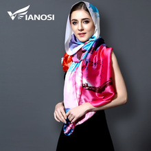 [VIANOSI] 2017 Fashion bandana Printing Silk Scarf Women Long Shawls Luxury Hijab Brand Scarves Women Scarf With Party VA105