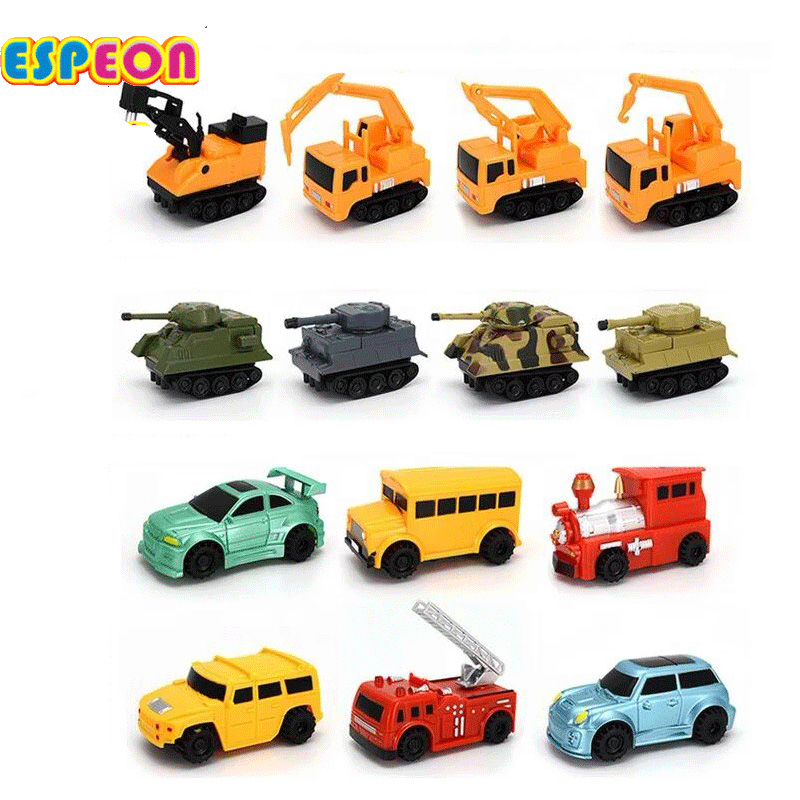 2017 Espeon New Magic Toy Inductive Vehicles Children's Cars Construction Truck Inductive Tank Toy without battery fast shipping(China)