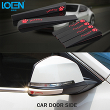 6PCS Silica gel Anti-collision Anti-Scratch Car stickers Car Door rearview mirror Strips for corolla camry cruze polo golf all