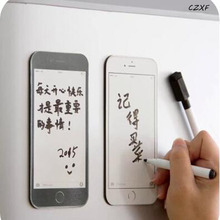 NEW Household Mobile Phone Type Fridge Magnet Creative Refrigerator Message Board with Sponge Rewritable Soft Pen Paste Stickers