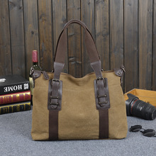Guangzhou man bag agent Korean canvas bag Vintage handbag 2016 new diagonal shoulder computer bag(China)