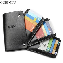 GUBINTU Leather Card Holder Wallets With 30 Card Slots Rfid Rotate Bus Card Wallet Men Credit Card Holders--BIY026 PM49(China)