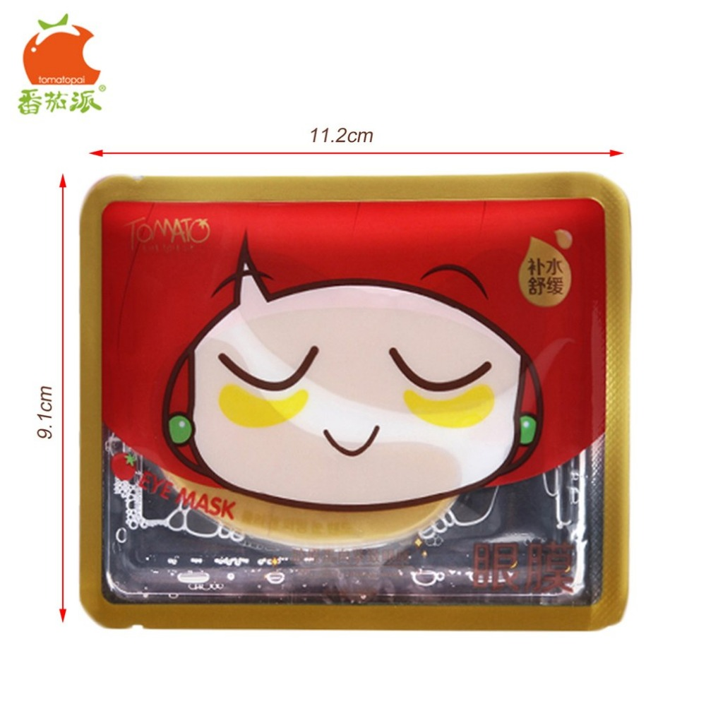 TOMATO PIE 140G Smooth Collagen Firming Moisturizing Eye Mask Gold Osmanthus Remove Dark Circles Skin Care Eye Masks Treatment 19
