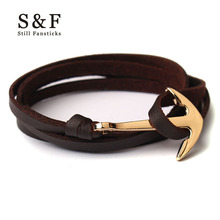 Gold Anchor Bracelet men jewelry bracelets for women charm bijoux Miansai Leather bracelete mens friendship bracciali homme 2017