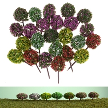 HENGHOME Hot 3.5cm 5pcs DIY Miniature Flower Tree Plants Fairy Garden Decoration Dollhouse Craft Model(China)