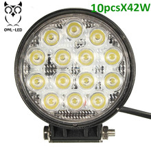 10pcs best car accessories supplier of work light, High Power 42W round offroad LED head light for car