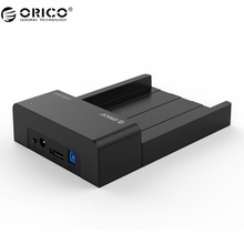"ORICO USB 3.0 & eSATA 2.5"" & 3.5""SATA Hard Drive Docking Station Tool Free for 2.5 inch and 3.5 inch HDD-Black(6518SUS3-V2)(China)"