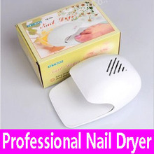 1 piece Nail Dryer Portable Nail Polish Dryer Glue Dry Battery Nail Art Fan Tool Mini Drier Fast Drying Machine Wholesale Retail