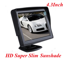 "Factory Promotion 4.3""  inch HD TFT LCD car Monitor 2 way video input Car Universal 800X480 Viewing Angle: 160 degrees"