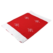 Christmas Table Mat Food Placemat Snowflake Pattern Dinner Party Decoration Table Mat for Christmas Festival Decoration(China)