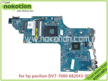 Brand  682043-001 48.4ST04.011 Laptop motherboard For hp pavilion M7-1000 DV7-7000 Intel HD 4000 graphics 17.3 inch Mainboard