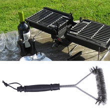 "12"" Stainless Steel BBQ Grill Brush Heavy Duty Barbecue Grill Cleaning Brush with Handle  1Pcs"