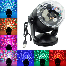 ZINUO Voice Control RGB LED Stage Lamps Battery Operated Crystal Magic Ball  Laser Projector Disco Stage Effect Light