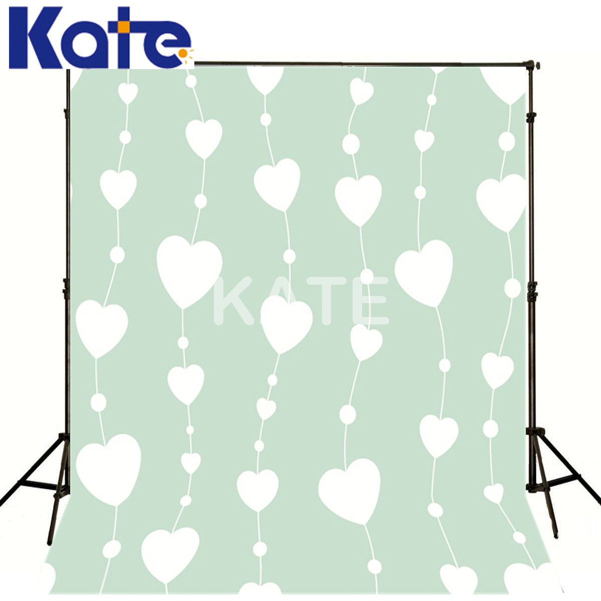 Kate Photography Backdrops Photo Light Blue Curtain White Love Kate Thick Cloth Backdrops For Photography<br>