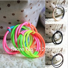 Free Shipping,2016 New Wholesale Fashion Contrast Neon Color Hair Accessaries Hair Bands Elastic Hair Ropes Ties Ponytail Holder
