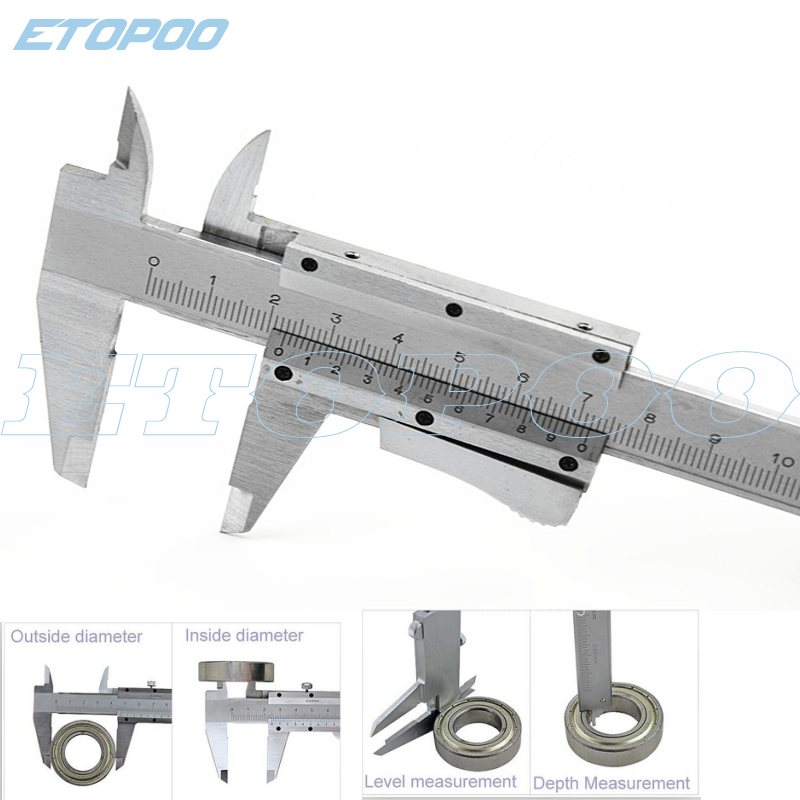 "USA Steel Vernier Caliper with self lock 6/"" 0-150mm Metal Calipers Gauge Microm"