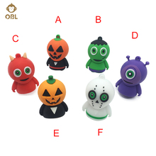 Hallowmas Gifts Jack o' lantern USB Flash Drives 128GB 64GB 32GB 16GB 8GB 4GB Halloween Pendrive USB Stick Flash Disk Memory(China)