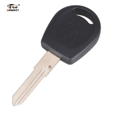 DANDKEY Car Key Shell Replacement Auto Transponder Key Case Blank Cover Fit For Volkswagen Jetta With Logo