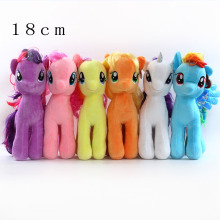 1 pcs New 2017 18CM  6 Colors Fresh Plush unicorns Horse Stuffed Animals Toys Baby Infant Girls Toys Birthday Gift Rainbow Dash