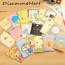 1 Pcs Cute Kwaii Mini Vintage Flower Notebook Lovely Animal Notepads For Kids Gifts Stationery Color Random(China)