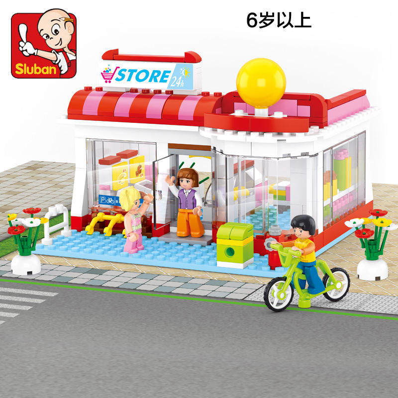 Sluban 0529 Model building kits compatible with brick city store  blocks Educational model &amp; building toys hobbies for children<br><br>Aliexpress