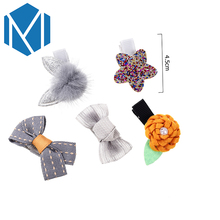 M MISM 1 set=5 pcs Lovely Children Hairpins Pom Pom Ball Bright Star Hair Clip Ribbon Bow Flower Barrettes Girl Hair Accessories(China)