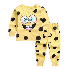URFine Baby boy Clothes New Children Clothes Sets Baby Girls Sleepwear Long Sleeve Leisure Wear Kids Pajamas suit(China)