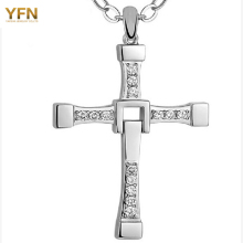 YFN Genuine 925 Sterling Silver Religious Jewelry The Movie Fast and Furious Pendant Dominic Toretto Cross Men's Necklace