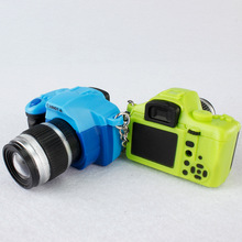 New Chic Cute Mini Camera Toy Car Keychain With Flash Light And Sound PVC Action Figures Toys Gift Wholesale