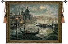 The scenery of Venice nautical wall hanging tapestry Cotton Home textile deco Tapiz Gobelin Tapisserie Arazzo medievale GT020